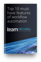 TEAM Informatics - eBook 3D mockup - Top 10 must have features of workflow automation-1