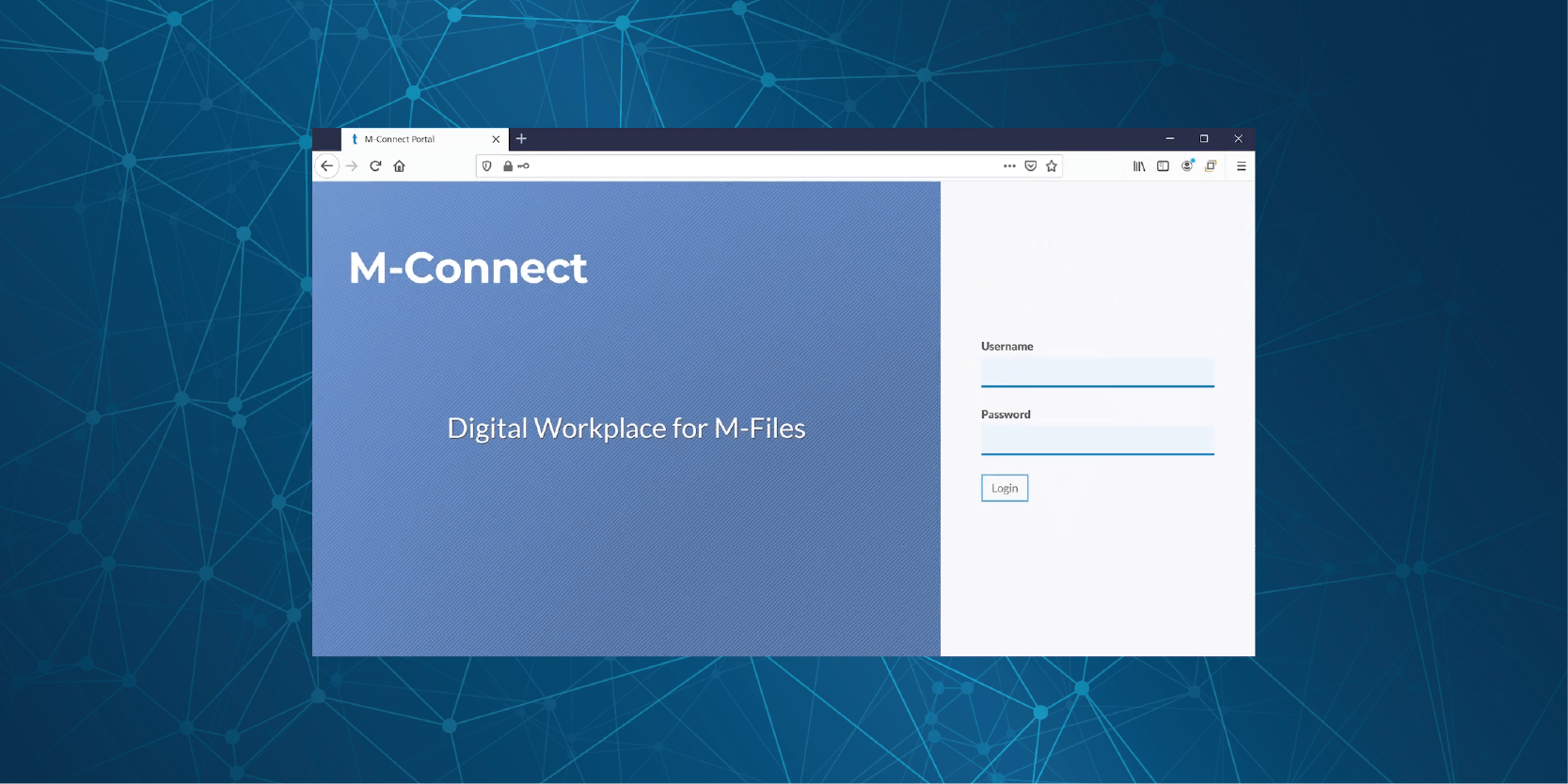 Product Background + M-Connect Logon Page v1