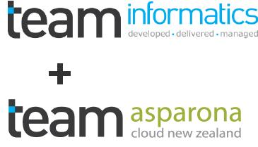 TEAM Informatics + TEAM Asparona Logos 3-1